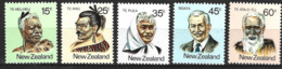 New Zealand  1980  SG   1232-6  Maori Personaliries    Unmounted Mint - Unused Stamps