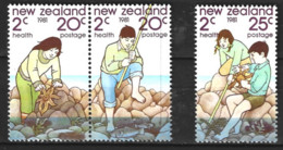 New Zealand  1981  SG   1249-51  Health Stamps    Unmounted Mint - Unused Stamps