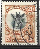Tanganyika  1922   SG  77   20c  Fine Used - Tanganyika (...-1932)