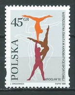 Pologne YT N°3354 Championnat Du Monde D'acrobatie à Wroclaw Neuf ** - Nuevos