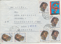 Angola Air Mail Cover Sent To DDR 19-5-1980 Topic Stamps The Flap On The Backside Of The Cover Is Missing - Angola