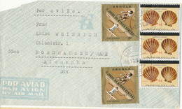 Angola Air Mail Cover Sent To DDR 28-12-1985 Topic Stamps - Angola