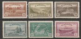 Canada 1946 Sc 268-73  Set MNH** - Ungebraucht