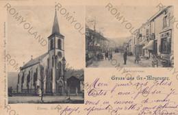 CARTOLINA GRUSS AUS GR-MOYEUVRE,FRANCIA,FABERSTRASSE,ERANG.KIRCHE,VIAGGIATA - Otros Municipios