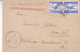DEUTSCHLAND. LUFTFELDPOST, ENVELOPPE CIRCULLE ANNEE 1943, A WIEN. PASSÉ PAR LES CENSEURS.- LILHU - Luftpost
