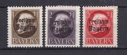 Bayern - 1919 - Michel Nr. 165/167 A - Ungebr. - Beieren