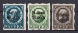 Bayern - 1919 - Michel Nr. 168/170 A - Ungebr. - Beieren