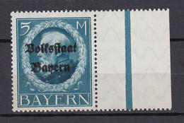 Bayern - 1919 - Michel Nr. 131 A Rand - Postfrisch - Beieren