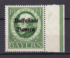 Bayern - 1919 - Michel Nr. 132 A Rand - Postfrisch - Beieren