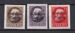 Bayern - 1920 - Michel Nr. 128/130 B - Ungebr. - Beieren