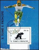 Sao Tome And Principe 1988 - Mi BL 187 - YT BF 63B (Albertville Olympics : Skiing ) - Sao Tomé E Principe