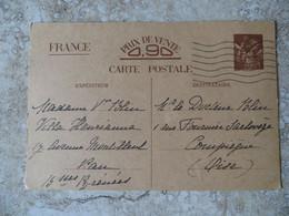 Cp Militaria Guerre 39/45 Carte Avec Entier Postal Préremplie Réservée à La Correspondance Des Familles Pau Octobre 1940 - Letter Cards