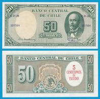 CHILE - 5 Centesimos Auf 50 Pesos Banknote Pick 126 UNC   (18400 - Altri – Africa