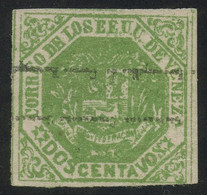 Venezuela 1873 2c Green Ovpt. Type II Inverted And MNG (*), Fault-free Quality, MiNr. 19IIF, Uncommon - Venezuela