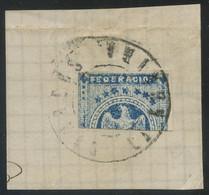 Venezuela 1863 Eagles 1r Blue BISECT On Piece, Fault-free Condition, Looks Genuine, Sold As Is - Venezuela