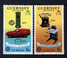 GUERNSEY - 1979 EUROPA SET (2V) FINE MNH ** SG 201-202 - 1979
