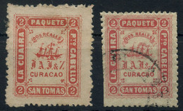 Venezuela Private Ship Mail Of Jesurun Co. (Curacao) 1869 2r Red Mint And Used, Mixed Condition But Uncommon - Venezuela