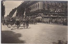 Fêtes De La Victoire à Paris - 14 Juillet 1919 - Sans Légende Défilé Café De La Paix Troupes Grecques Evzone Carte Photo - Patriottisch
