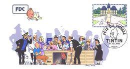 FRANCE 3303 FDC Premier Jour 30 Fête Du Timbre 2000 Paris TINTIN HERGE KUIFJE BEDE COMICS STRIP Moulinsart Edwood - Comics