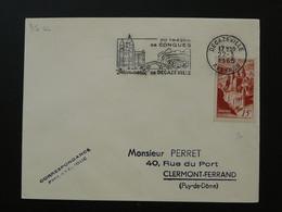 Flamme Concordante Abbaye De Conques Decazeville 12 Aveyron 1965 - Abbayes & Monastères