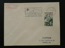Flamme Concordante Timbres à Surtaxe Croix Rouge Saint-Denis 974 Réunion 1966 - Mechanical Postmarks (Advertisement)