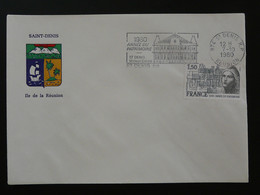 Flamme Concordante Année Du Patrimoine Saint-Denis 974 Réunion 1980 - Mechanical Postmarks (Advertisement)