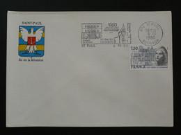 Flamme Concordante Année Du Patrimoine Saint-Paul 974 Réunion 1980 - Mechanical Postmarks (Advertisement)