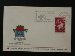 Flamme Concordante Timbres à Surtaxe Croix Rouge Saint-Pierre 974 Réunion 1968 - Mechanical Postmarks (Advertisement)