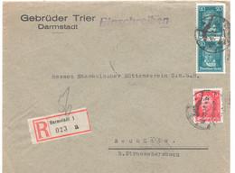 Einschreiben, Darmstadt, MeF, Gel. 1927, Nach Neuhütte, - Covers & Documents