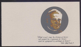UNITED NATIONS (NEW YORK) 1979 - Visit Of Pope John Paul, Bird Stamp On It And Cancelled 2.10.1979 Special FOLDER Issued - Briefe U. Dokumente