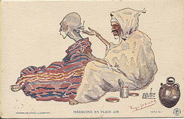 125031 AFRIQUE DU NORD ALGERIE GOUVERNEMENT GENERAL SCENES ET TYPES SATIRE PAR ROGER IRRIERA MEDECINE ARABE EN PLEIN AIR - Escenas & Tipos