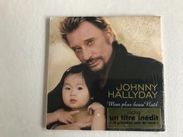 JOHNNY HALLYDAY - Mon Plus Beau Noel + 1 Inedit - CD Single - Andere - Franstalig