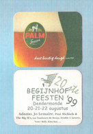 Bierviltje - Sous-bock - Bierdeckel -    PALM - 20 ST BEGIJNHOFFEESTEN - DENDERMONDE 22 AUGUSTUS '99- ADAMO .... (B 384) - Sous-bocks