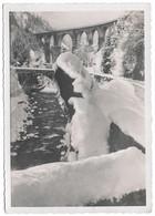 74 Les Houches Le Pont Et Le Viaduc Sainte Marie Sur L'Arve En Hiver (carte Vierge) - Les Houches