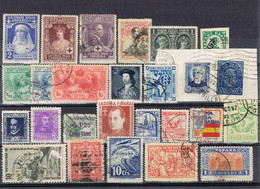DO 17069 LOT SPANJE SCHARNIER + GESTEMPELD ZIE SCAN - Colecciones