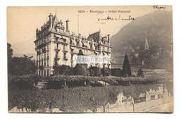 Montreux - Hôtel National - 1920 Used Switzerland Postcard - VD Vaud