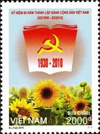 Vietnam 2348 Communisme, Politique, Tournesol, Flore - Unclassified