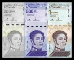 Venezuela Set 200000 500000 1000000 Bolívares 2020 (2021) Pick New SC UNC - Venezuela