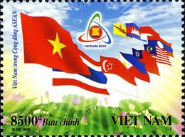 Vietnam 2368 ASEAN, Drapeaux - Unclassified
