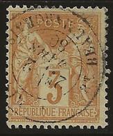 Sage N°86 Oblitéré, Pas Aminci, Dentelure Et Centrage Voir Scans Recto-verso. - 1876-1898 Sage (Tipo II)