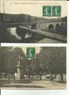 70 - Haute Saone - Passavant - Pont Sur Le Canal Et Le Coney - Place Jeanne D'Arc - Animée - Lot De 2 Cartes - - Otros Municipios