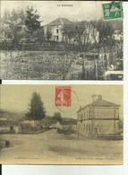 70 - Haute Saone - La Rochère - La Place - Toilée Couleurs  - Lot De 2 Cartes - - Otros Municipios