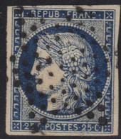Cérès N°4 Bleu, Oblitération étoile Muette, Pas D'aminci. - 1849-1850 Ceres