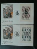 2 FDC Auguste Renoir Carnet Croix Rouge 1965 Cagnes Sur Mer 06 Alpes Maritimes Ed. ROC 51577 - Croix-Rouge