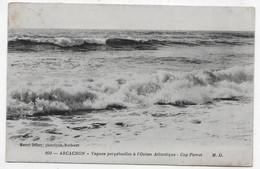 (RECTO / VERSO) ARCACHON EN 1912 - N° 209 - VAGUES PERPETUELLES A L' OCEAN ATLANTIQUE - CAP FERRET - BEAUX CACHETS - CPA - Arcachon