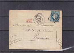 France - Lettre De 1873 - Oblit Roubaix - Exp Vers Tournai - 1871-1875 Ceres