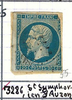 FRANCE Classique: Le Y&T 14B, Obl. PC 3286 (St Symphorien, Ind.5), ISERE, TP Déf. - 1853-1860 Napoleon III