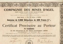 11-MINES D'AGEL. CIE DES ... BIZE - Other