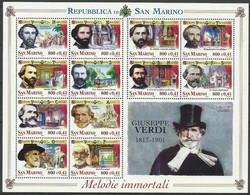 San Marino 2001 Mi Sheet 1938-1949 MNH  (ZE2 SMRark1938-1949) - Theatre
