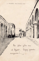 CPA   MAROC---AGADIR-----RUE LIEUTENANT-NOEL---1916 - Agadir